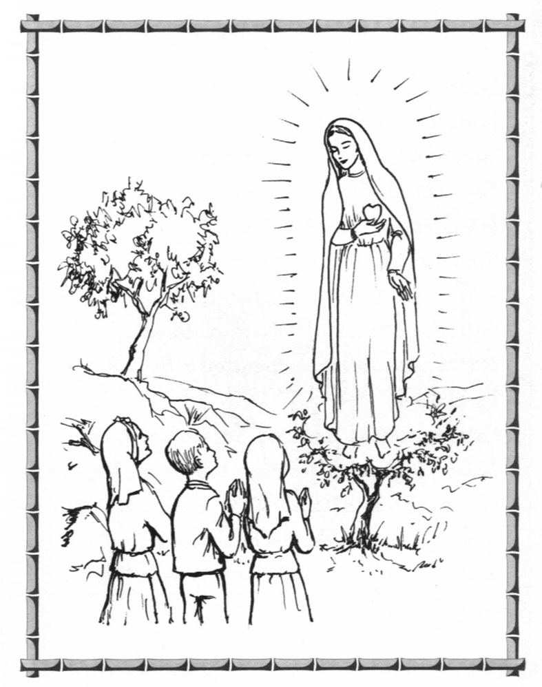 Educaci n religiosa mayo 2012 for Our lady of lourdes coloring page