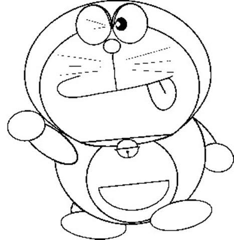 Cartoons Coloring Pages Doraemon