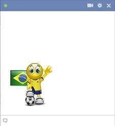 Brazilian football smiley