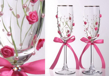 Como decorar copas para boda lodijoella - Copas decoradas con velas ...