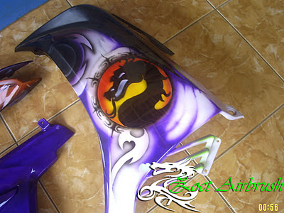 Modifikasi Jupiter MX - Modifikasi Airbrush