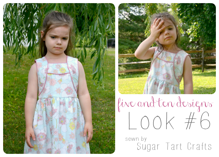 Five and Ten Designs Look #6 sewn by Sugar Tart Crafts