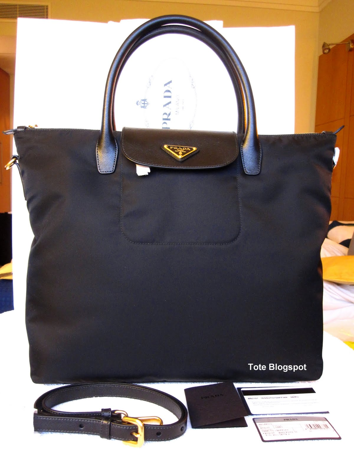 small prada bag - Tote to Toe: PRADA BN2107