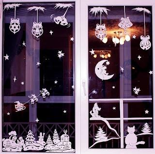 Украшаем окна под Новый Год