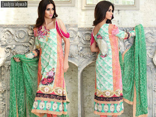 Zahra Ahmad digitl Lawn Collection 2015