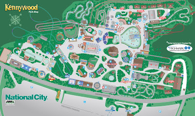 Kennywood Park Map 2011 Guide Information