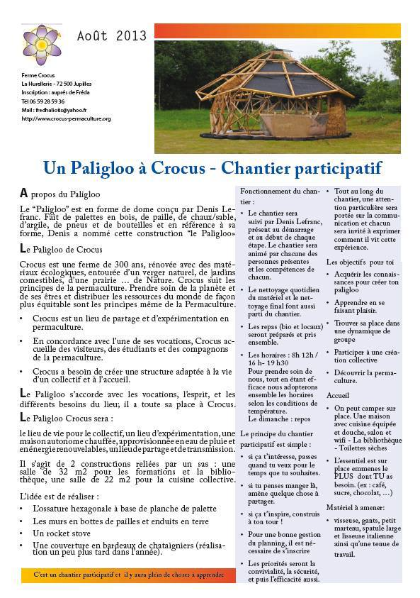 forum francophone de permaculture consulter le sujet chantier participatif construction d. Black Bedroom Furniture Sets. Home Design Ideas