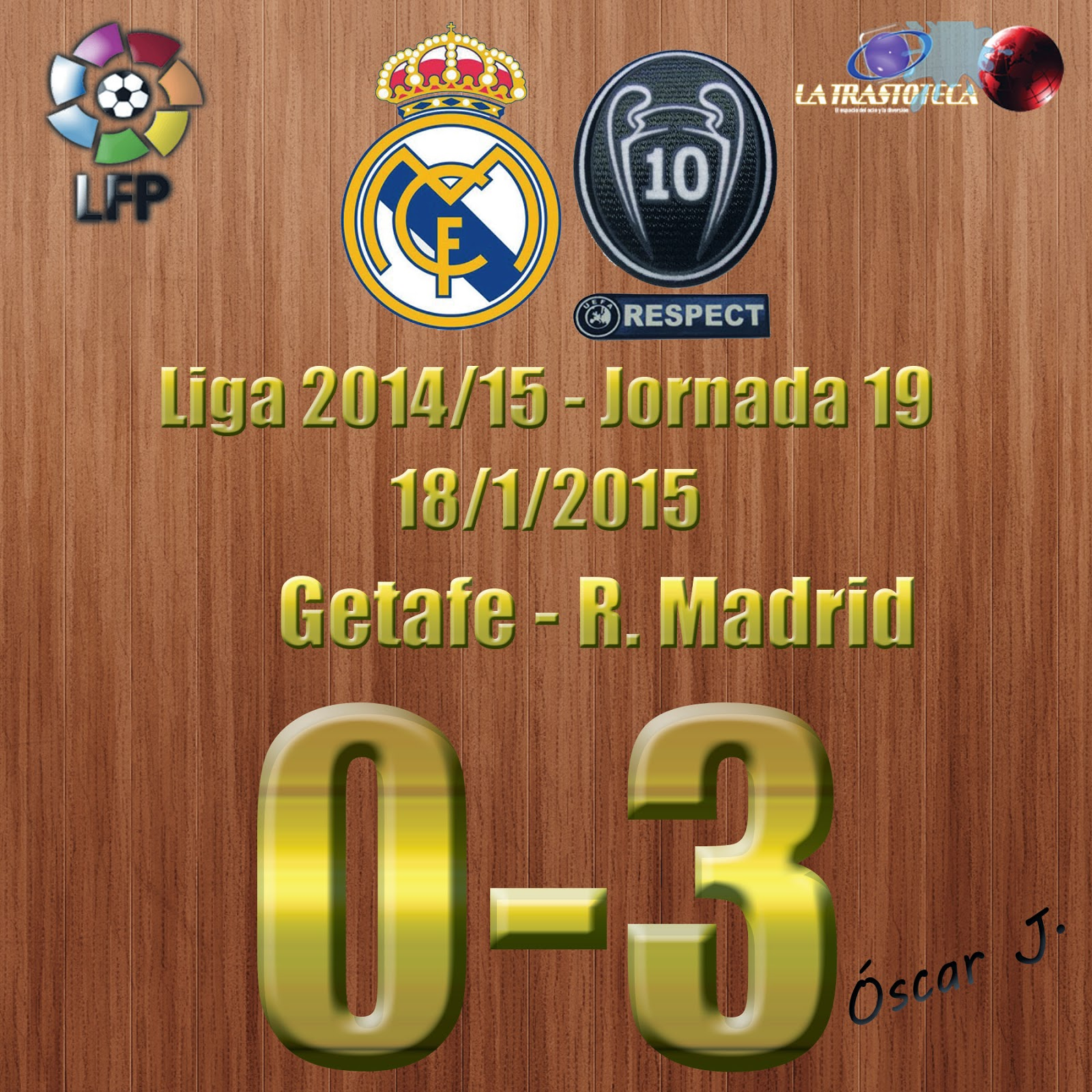 Gareth Bale (0-2) - Getafe 0-3 Real Madrid - Liga 2014/15 - Jornada 19 - (18/1/2015)