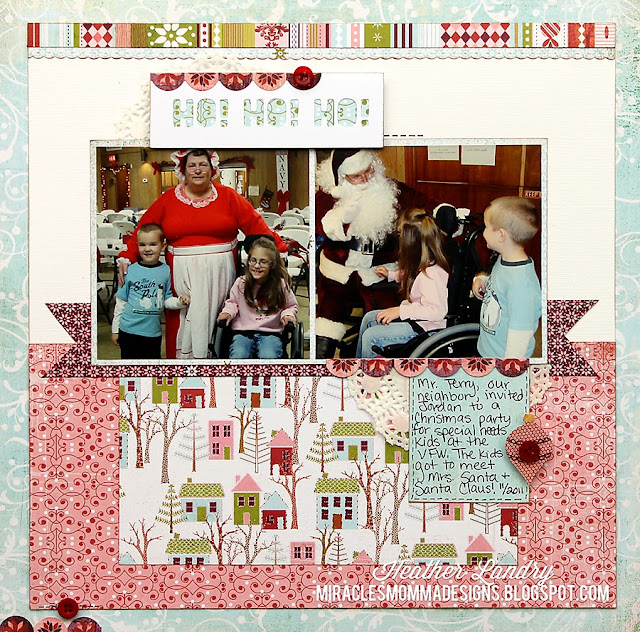 Mrs. Claus_Santa Claus_Scrapbook Project_Banner And Scallop