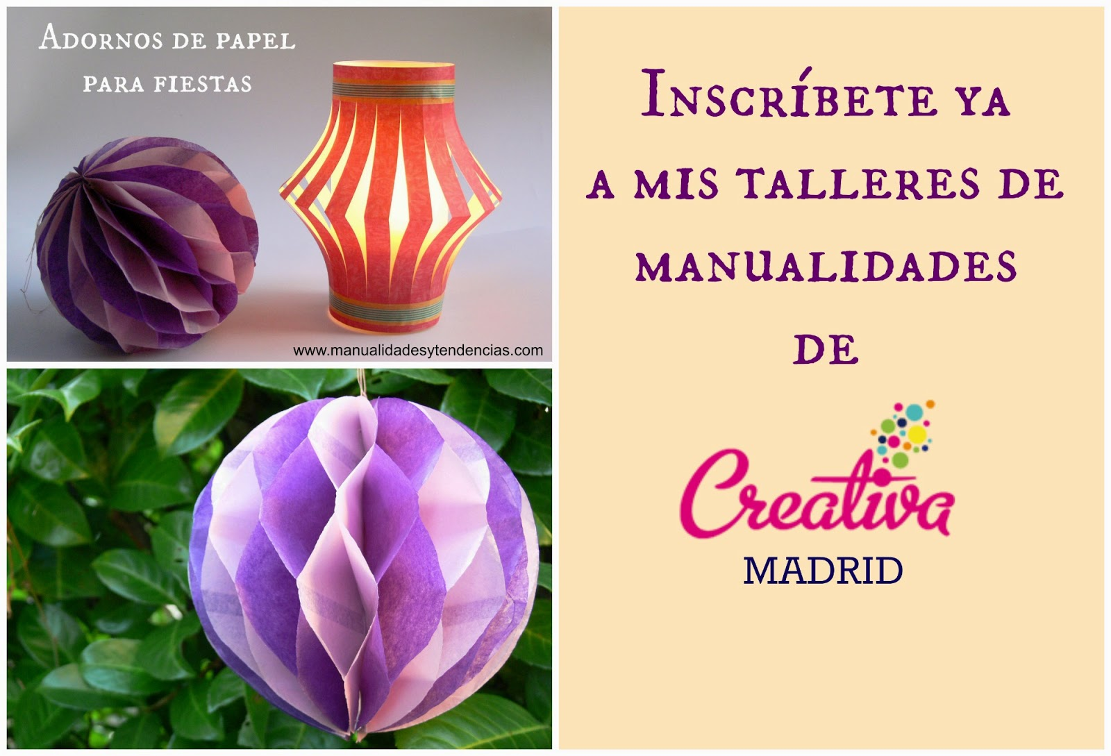 Talleres Creativa Madrid 2014