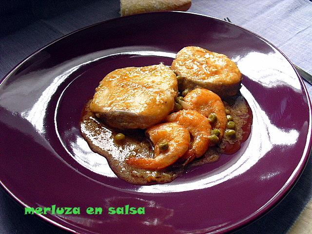 Las recetas de mi abuela merluza en salsa - Cocinar merluza en salsa ...