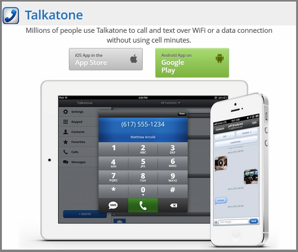 Talkatone for Facebook