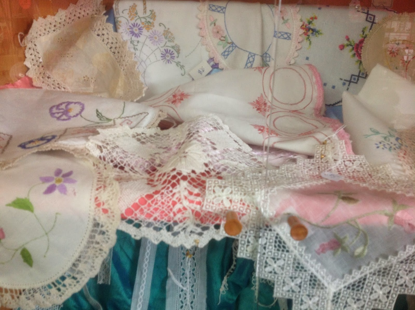 Assorted doilies and lace from $3
