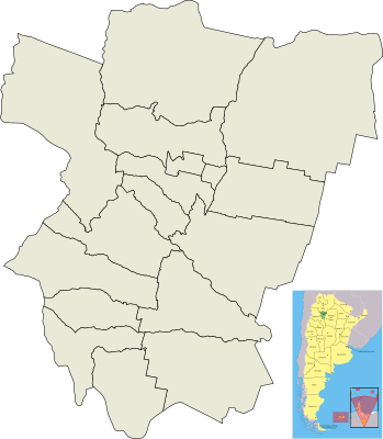 Tucumán Mapa Blanco