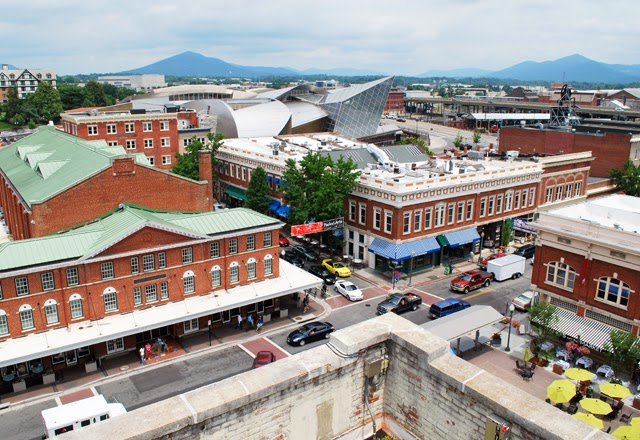View of Downtown Roanoke, Virginia from the top of Center in the Square | Em Busy Living