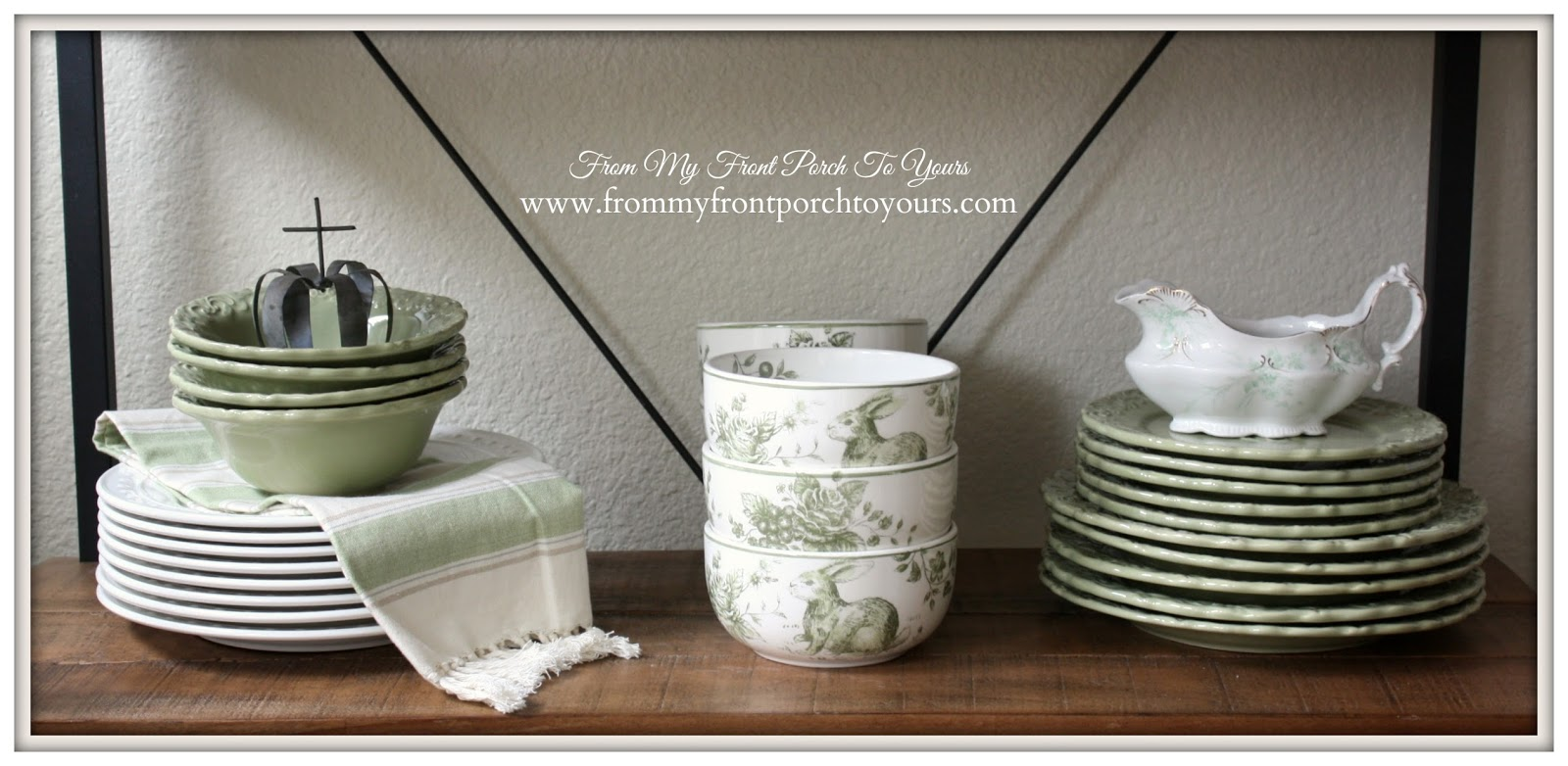 French Farmhouse -Spring Vignette-Breakfast Nook- From My Front Porch To Yours