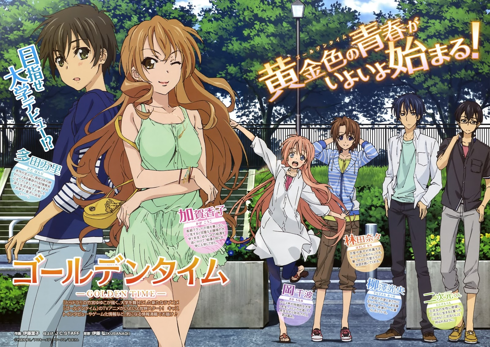 If you havent go look it up and continuing the success of the romance genre in the anime industry golden time
