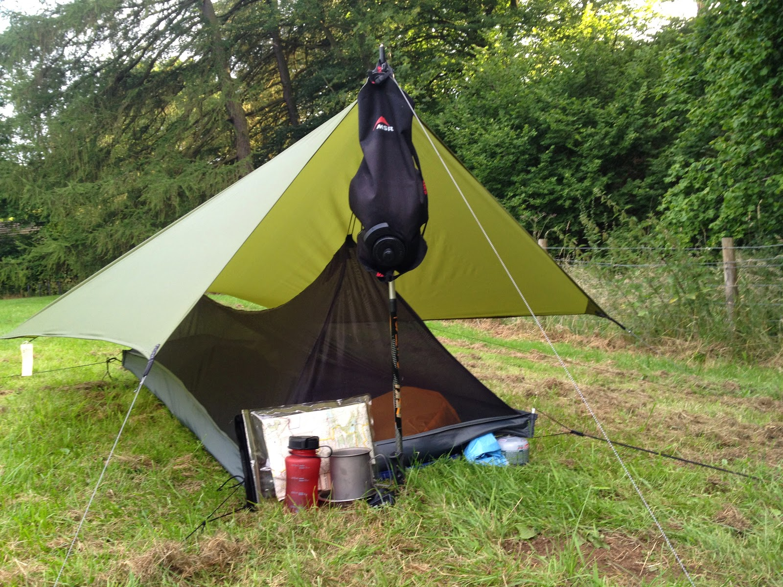 how to make an ultralight backpacking tarp