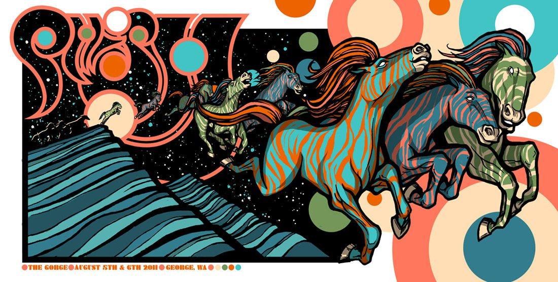 Pop art emporium on sale today 8 7 brad klausen s phish poster