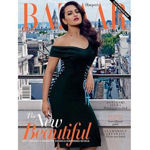 Sonakshi Sinha Covergirl for Harpers Bazaar