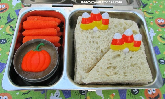 Halloween simple candy corn bento lunch