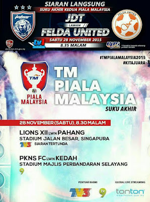 JDT Vs Felda United 28 November 2015