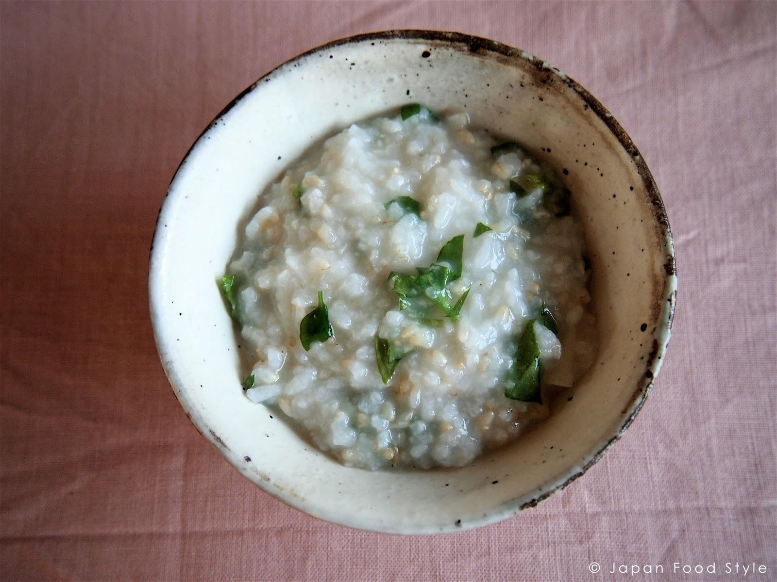Nanakusa-gayu( Seven herbs rice gruel)   Japan Food Style