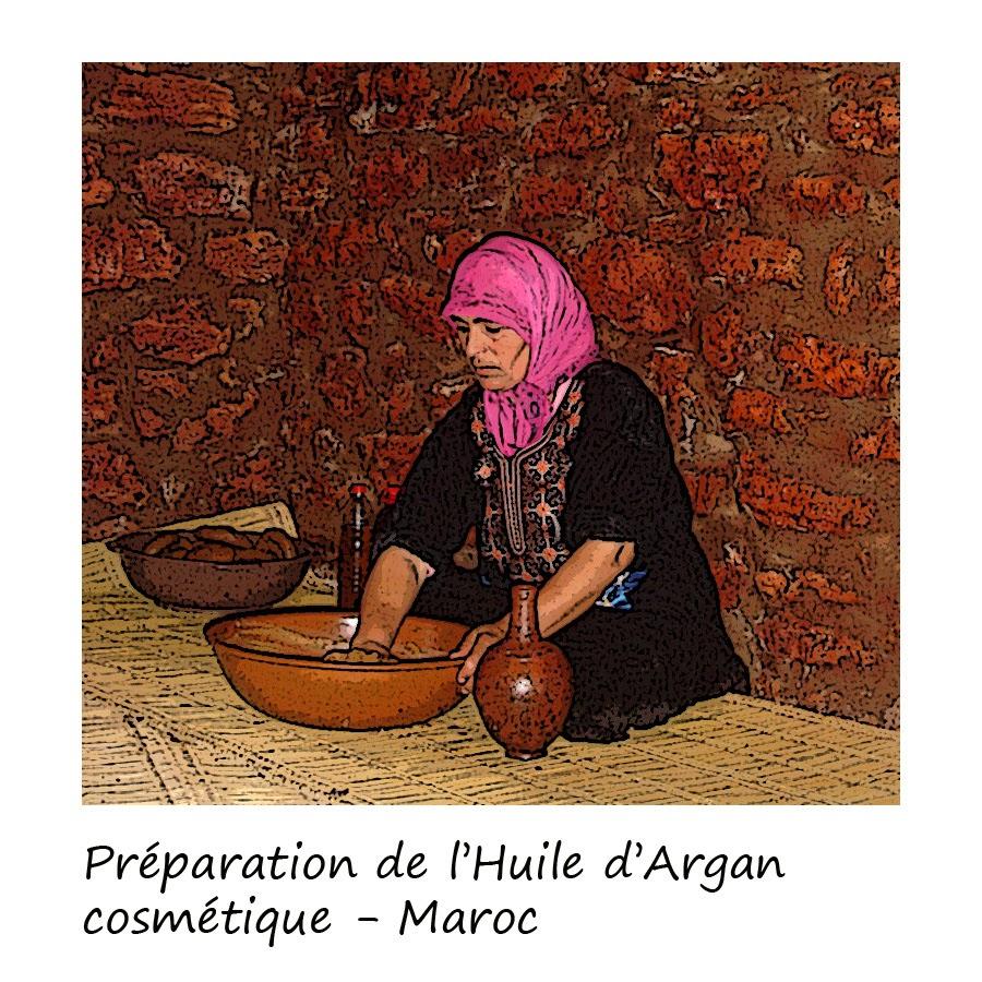 extraction de l'huile d'argane au Maroc