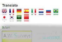 Cara Membuat Google Translate Dengan Bendera di Blog
