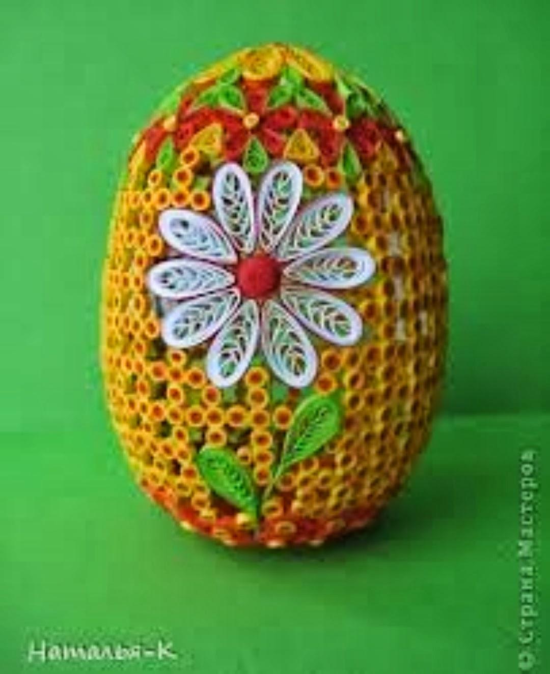 Яйцо к пасхе своими руками квиллинг