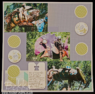 Chakra Sea Scrapbook Page featuring the Afternoon Picnic Papers from Stampin' Up! - Check out Bekka's Blog - she posts a new scrapbook page every Saturday