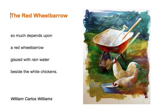 essays on the red wheelbarrow by william carlos williams The red wheelbarrow essays: over 180,000 the red wheelbarrow essays interpretation and imagination in william carlos williams' the red wheelbarrow.