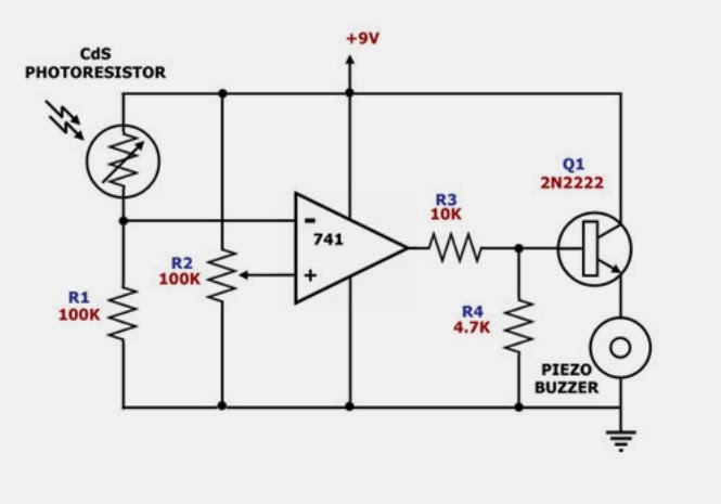 Popular electronics circuit figure darkness activated signal buzzer circuit diagram asfbconference2016 Gallery