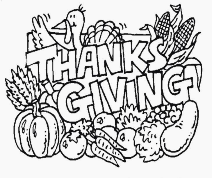Thanksgiving Coloring Pages Free  Best Calendar Blog