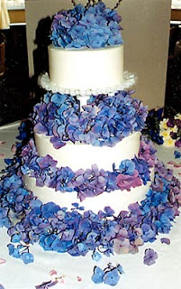 Elegant Purple And Blue Wedding Cakes