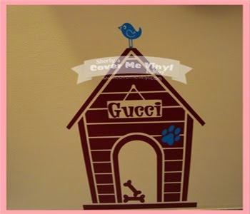 Personalized Dog House Wall Decal