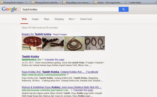 Tasbih Kokka No 1 di Google