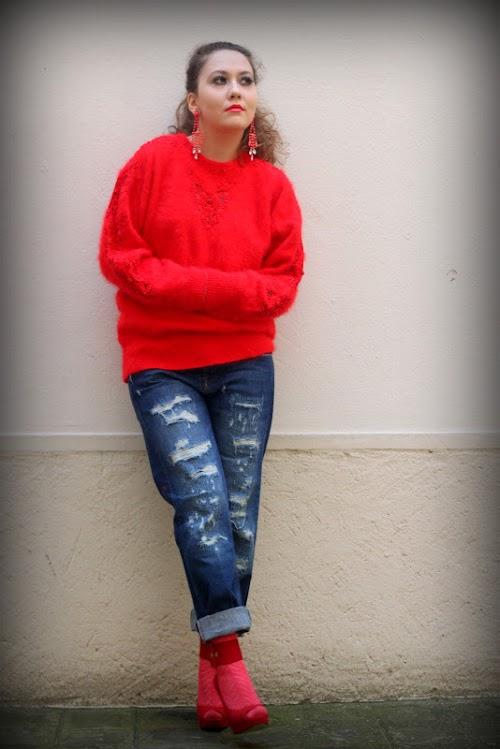 RED angora ♥