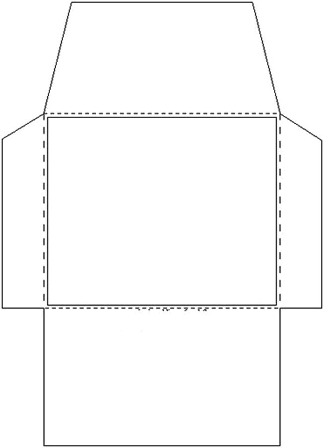 Famosos AQUARELINHA: Moldes Envelopes XD54