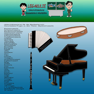 Musikinstrumente Klassenarbeit Arbeitsblatt PDF Unterrichtsmaterial