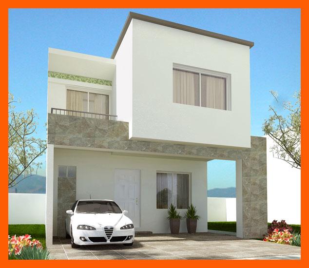 Fachadas de casas modernas fachada moderna de casa modelo for Modelo de casa con terraza