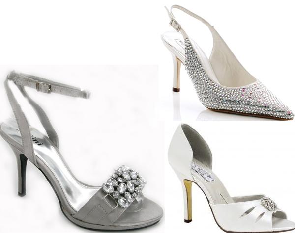 Wedding By Designs Silver Bridal Shoes