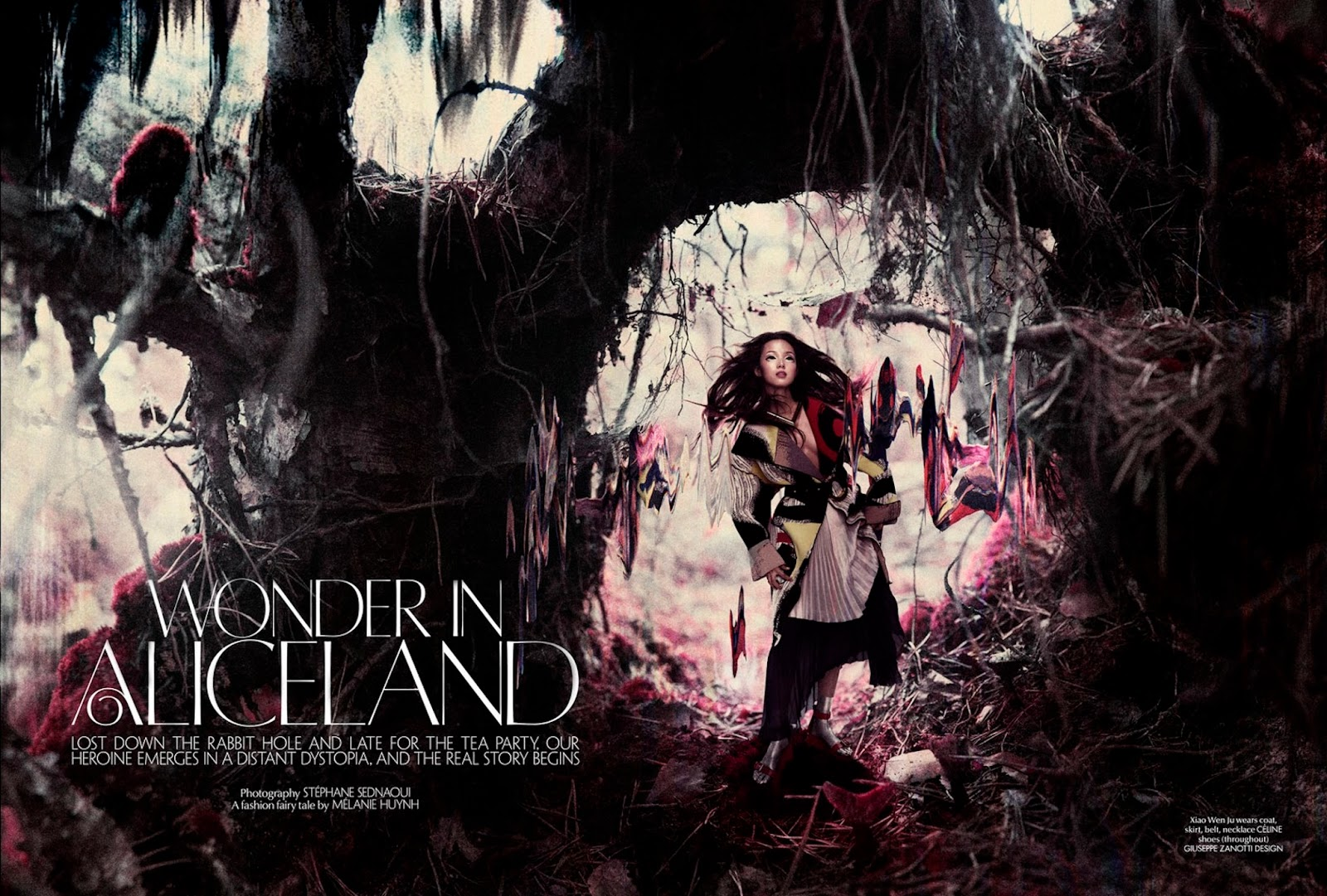 wonder in aliceland: xiao wen ju by stephane sednaoui for cr fashion book #4 spring/summer 2014