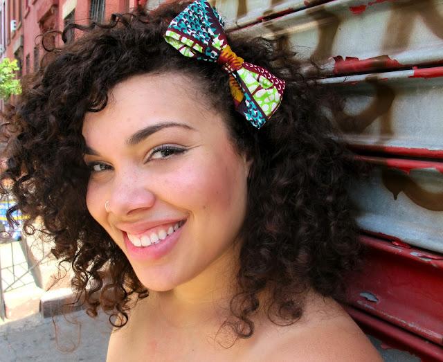 around the way curls, hair accessories, natural hair, curly hair, hair bows, african prints