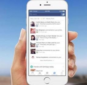 aggiornamento programma facebook per iOS sezione notifiche