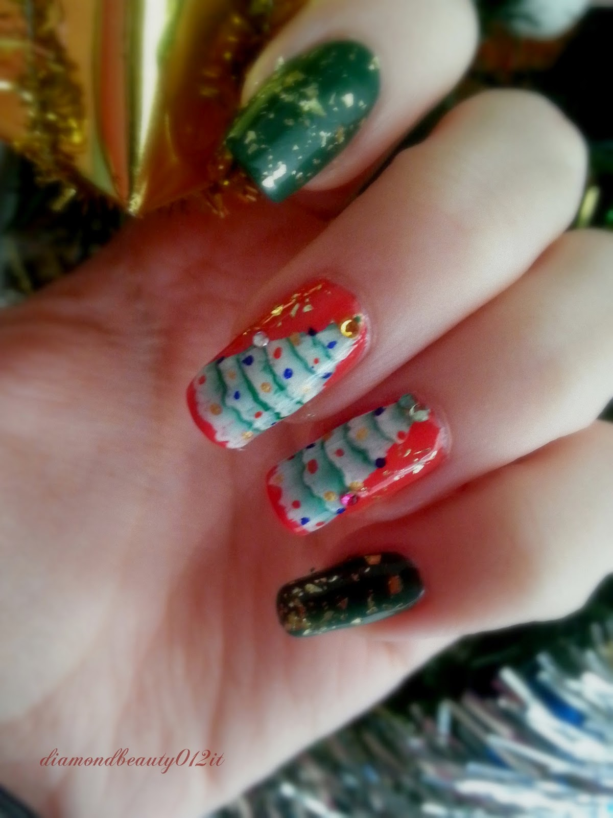 christmas tree idea nails