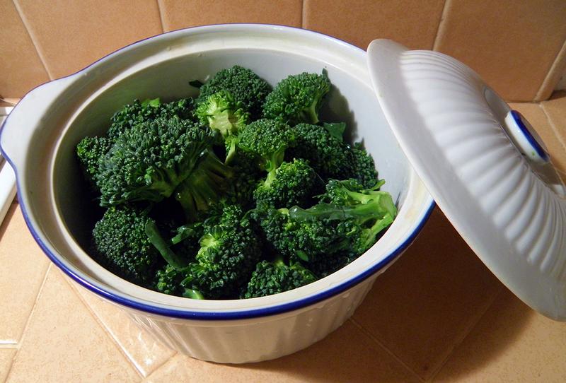 Preparing To Steam Broccoli