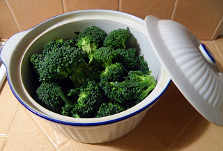 Broccoli in Baking dish with Lid