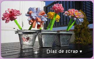 Scrap centro flores de fieltro
