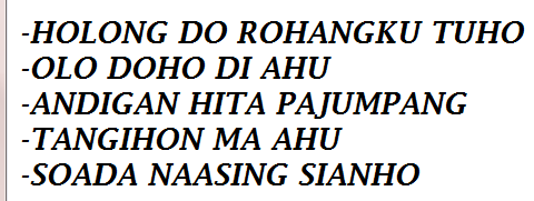 Bahasa batak Lainya